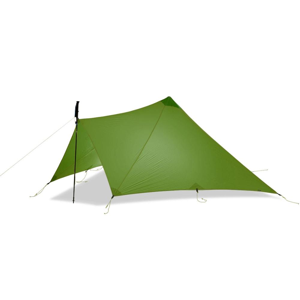 520G TrailStar Camping Tent Ultralight 1-2 Person Outdoor 15D Nylon  Sides Silicon Pyramid Shelter Tent 3 Season Hiking