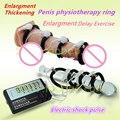 Многофункциональный Пенис физиотерапия кольцо регулировки кольцо крана задержка обучение увеличение Электрическим током импульсные взрослых секс-игрушки для мужчин