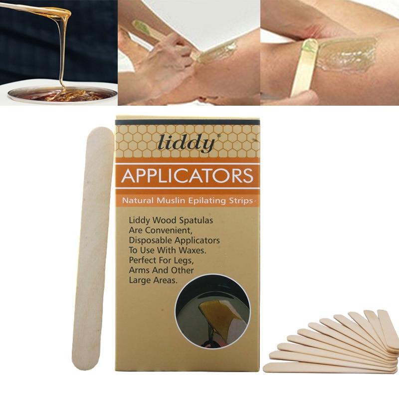 100pcs/box Wooden Wax Spatula Disposable Tongue Depressor Sticks Tattoo Waxing Medical Stick Body Hair Removal Beauty Tool 2018 Low Price Tattoo & Body Art