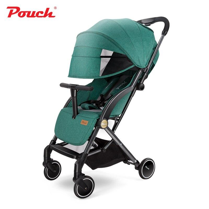 Poussette bébé légère landau portable S350 voyage léger poupons poussette pour garçon et fille facile à plier et à transporter
