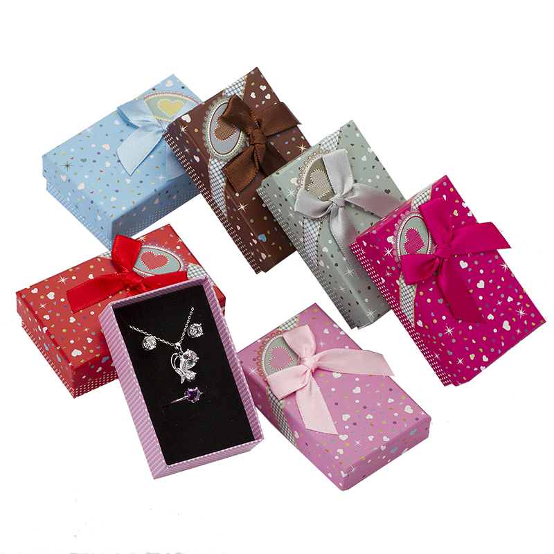 Multi Colors Jewelry Box 5*8 Cm Jewelry Sets Display Paper Box Necklace/Earrings/Ring Box Packaging Gift Box 32pcs/lot Wholesale