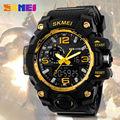 Skmei большой циферблат ударные часы мужские цифровые светодиодные 50 м водонепроницаемые военные армейские уличные спортивные часы будильни...