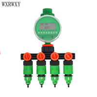 wxrwxy Garden tap automatic irrigation timer 4 way tap water pipe 4 way splitter cranes 1/4 hose Connector 8/11 1pcs