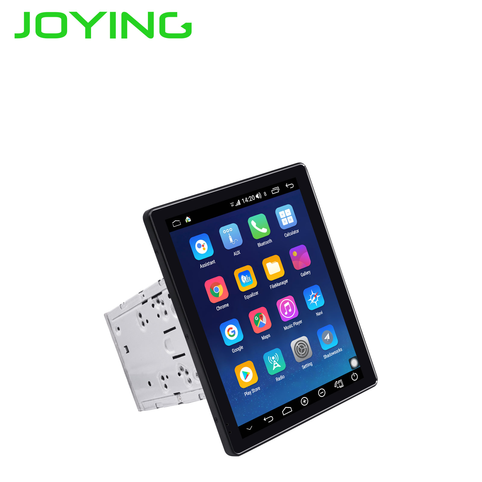 JOYING 2 din car radio Android 8.1 Octa Core 9.7 inch IPS screen 4GB+64GB support 4G autoradio split screen fast boot GPS DSP