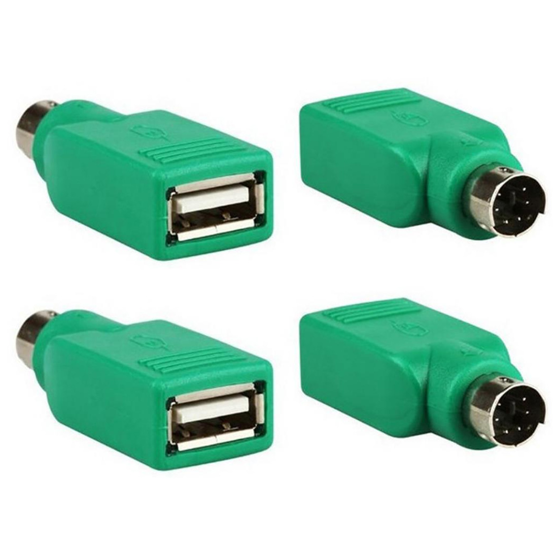 Computer Cables Connector USB Male PS/2 to USB adapter round port to U port converter USB keyboard  Adapter Converter Pakistan