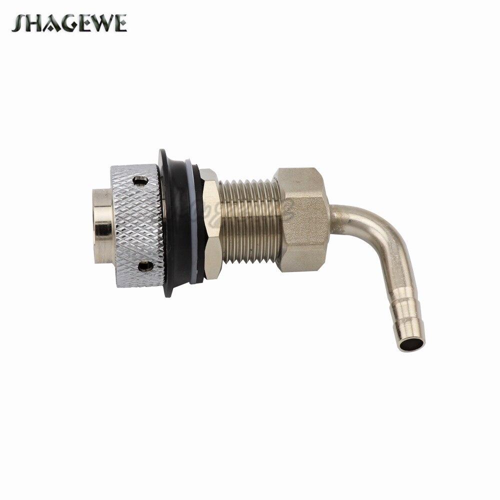 55mm Length G5/8 Elbow Beer Tap Shank With 8mm Diameter Barber for Homebrew Draft Kegerator Dispenser Faucet