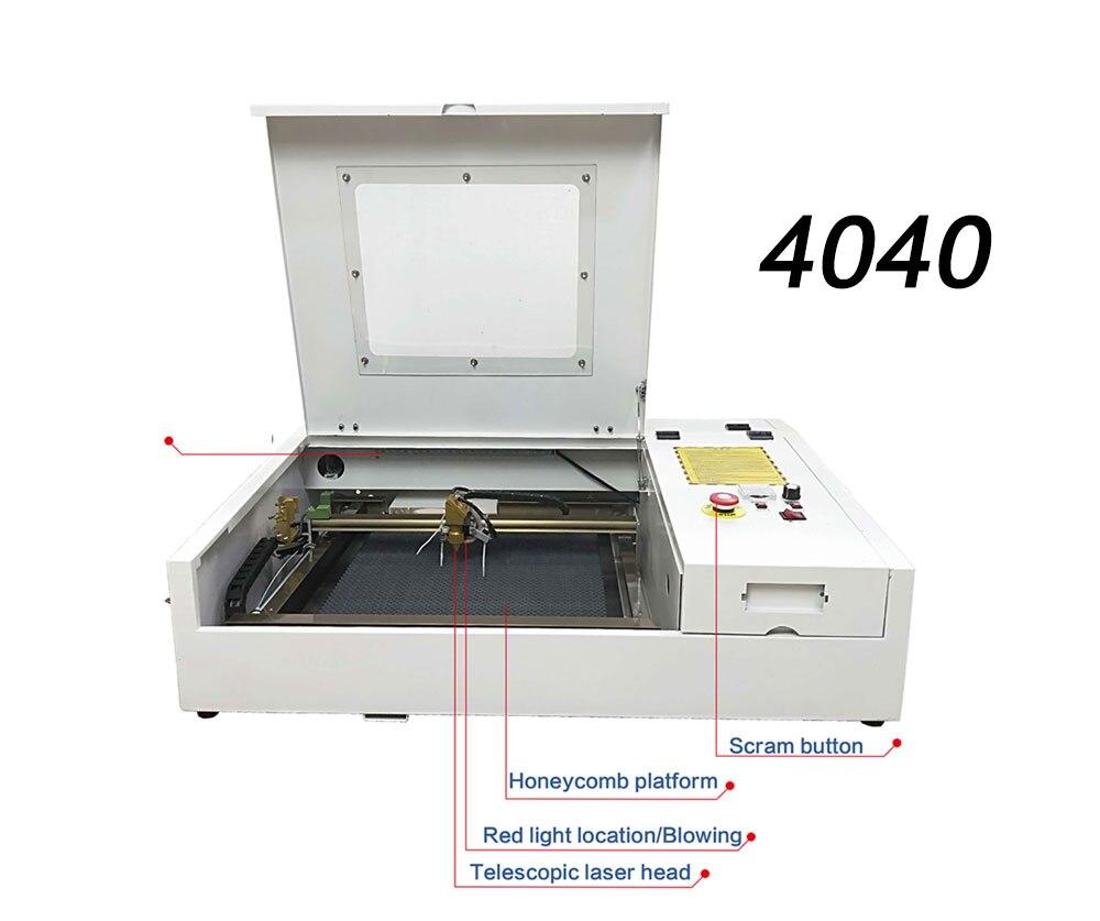 50W 4040 Co2 Laser Engraving Machine Cutting Machine Plywood,Wood ,Mdf,Paper, Plastic, Plexigl,Acrylic,Crytal, Glass