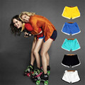 Cotton Wide Leg Fitness Candy Color Comfortable Elastic Waist Fashion Summer Casual Shorts Women HotPants Short Femme TT2309