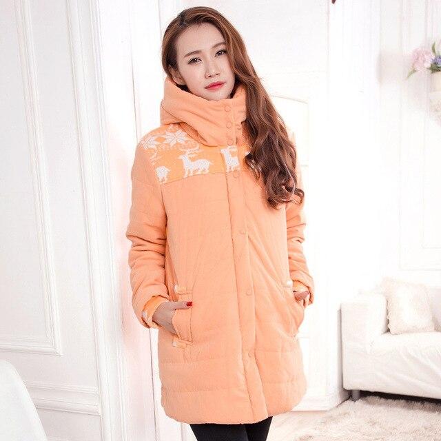Зима одежда для беременных ватные утолщение тепловой хлопка-ватник пальто для беременных женщин верхняя одежда