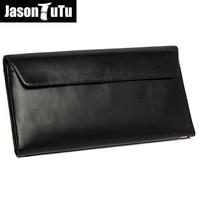 JASON TUTU Business Men Genuine Leather Clutch Bag Designer High Quality Men's Handbag Large Capacity Male Solid Wallet HN136