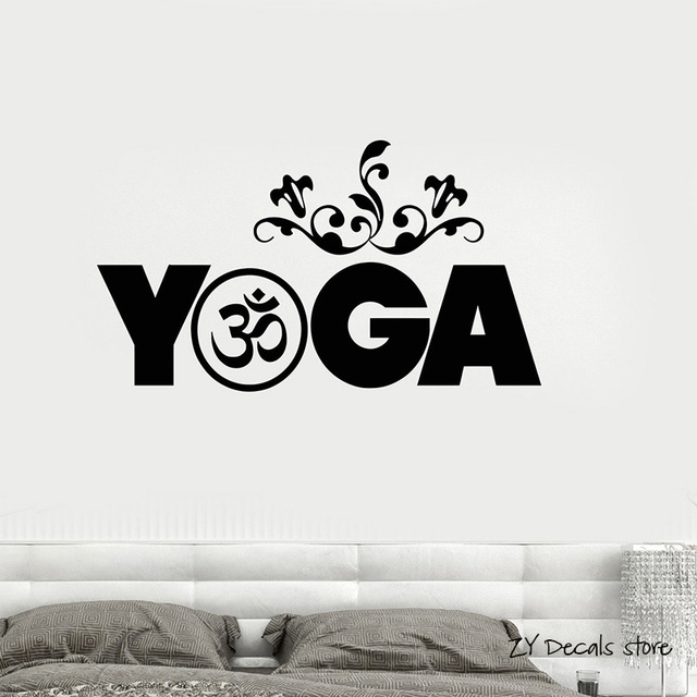 Yoga meditation wall decals buddhism wall stickers removable art mural buddha decal for yoga studio home
