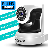 SDETER HD Wireless 1080P IP Camera WiFi Home Security Camera Surveillance Camera 720P Baby Monitor Night