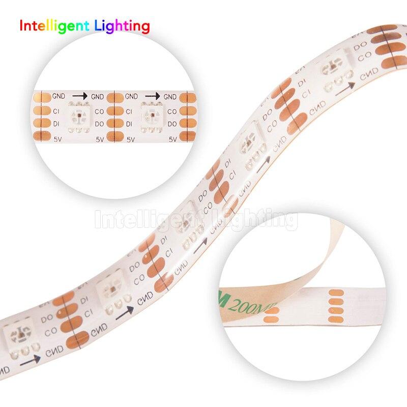 1m/5m 30/60/144leds/m SK9822(Similar APA102) led strip SMD5050 White PCB/Black PCB IP30/IP65/IP67 DC5V светодиодная лента swgroup smd5050 14 4w 12v 60 led m 5m ip65 cold white