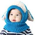 Invierno Del Bebé Del Sombrero y Bufanda Conjunto Con Estilo Perro Crochet de Punto Caps para Bebé Muchachas de Los Muchachos de Los Niños Nuevos Niños de La Manera Del Calentador Del Cuello