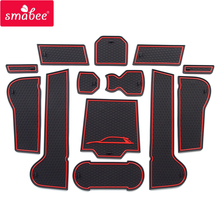 Smabee Porta slot pad Auto Zerbino Anti Slittamento, non-slip Per VOLKSWAGEN T-ROC 13 PCS ROSSO BLU BIANCO Porta per Interni Pad/Tazza