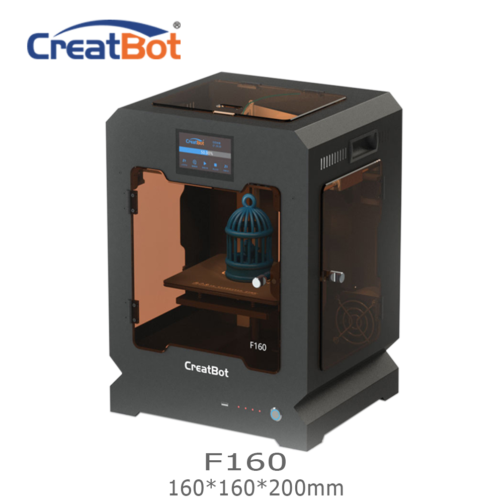 F160 CreatBot 3D impresora extrusora única 160*160*200mm 1,75mm ABS impresión barata 3d impresora Ultem vistazo impresora