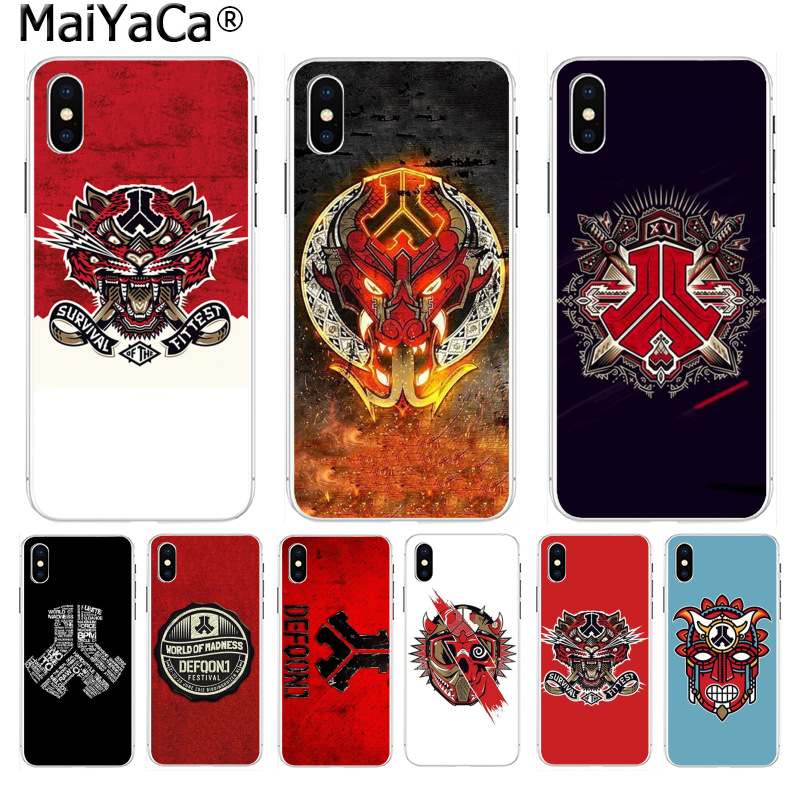 MaiYaCa defqon 1 High Quality Classic High-end Phone Accessories for iPhone 8 7 6 6S Plus X 10 5 5S SE XR XS XS MAX Coque Shell