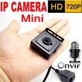 Micro 3.7mm lente mini cámara ip 720 P sistema de vigilancia cctv seguridad para el hogar pequeño hd Micrófono Incorporado onvif video p2p cam