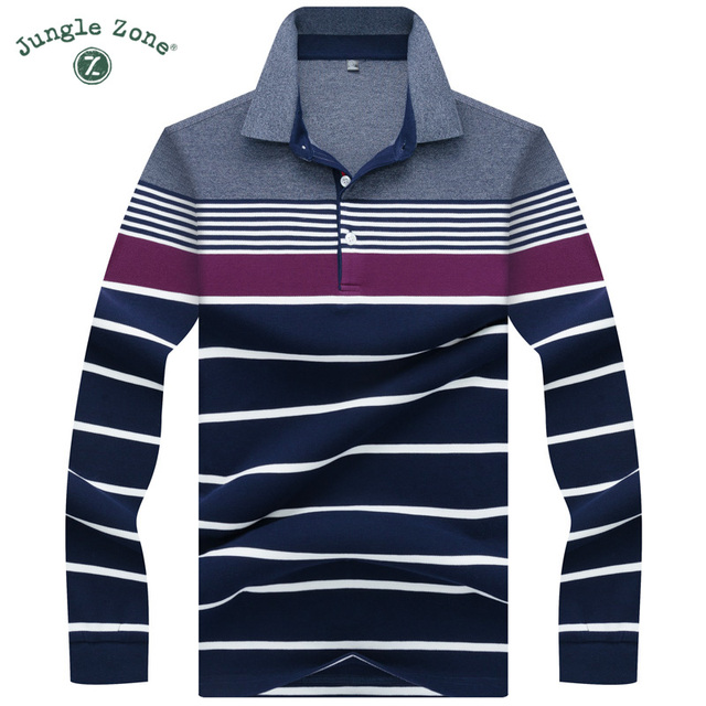 18164a465 High Quality Solid color 3D Embroidery Polo Shirt Casual Polo Shirt men's  Long sleeve polo shirt 2018 new Striped men Polos 8812