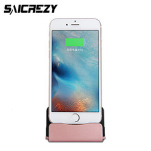 Dock Charger Sync Data Docking Station Charging Desktop Cradle Stand + USB cable for iPhone 5 5s 5c SE 6 6s 7 8 X Plus iOS 10
