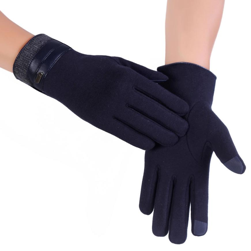 MUQGEW Men Winter Warm Motorcycle Ski Snow Snowboard Anti-Skid Half Finger Gloves mobile phone smartphone Gloves