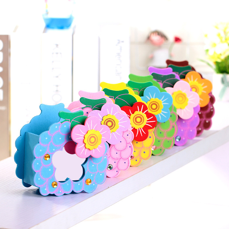 Cute Cartoon Wood Fruit Pen Holders With Mirror Clap Pencil Holder Vase  Home Decor Craft Office School Supplies Decoration Gift In Figurines U0026  Miniatures ...