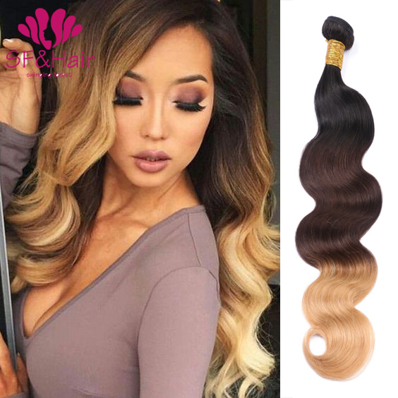 2017 New Arrival Ombre Hair T1b427 8a Body Wave Weave 100 Virgin