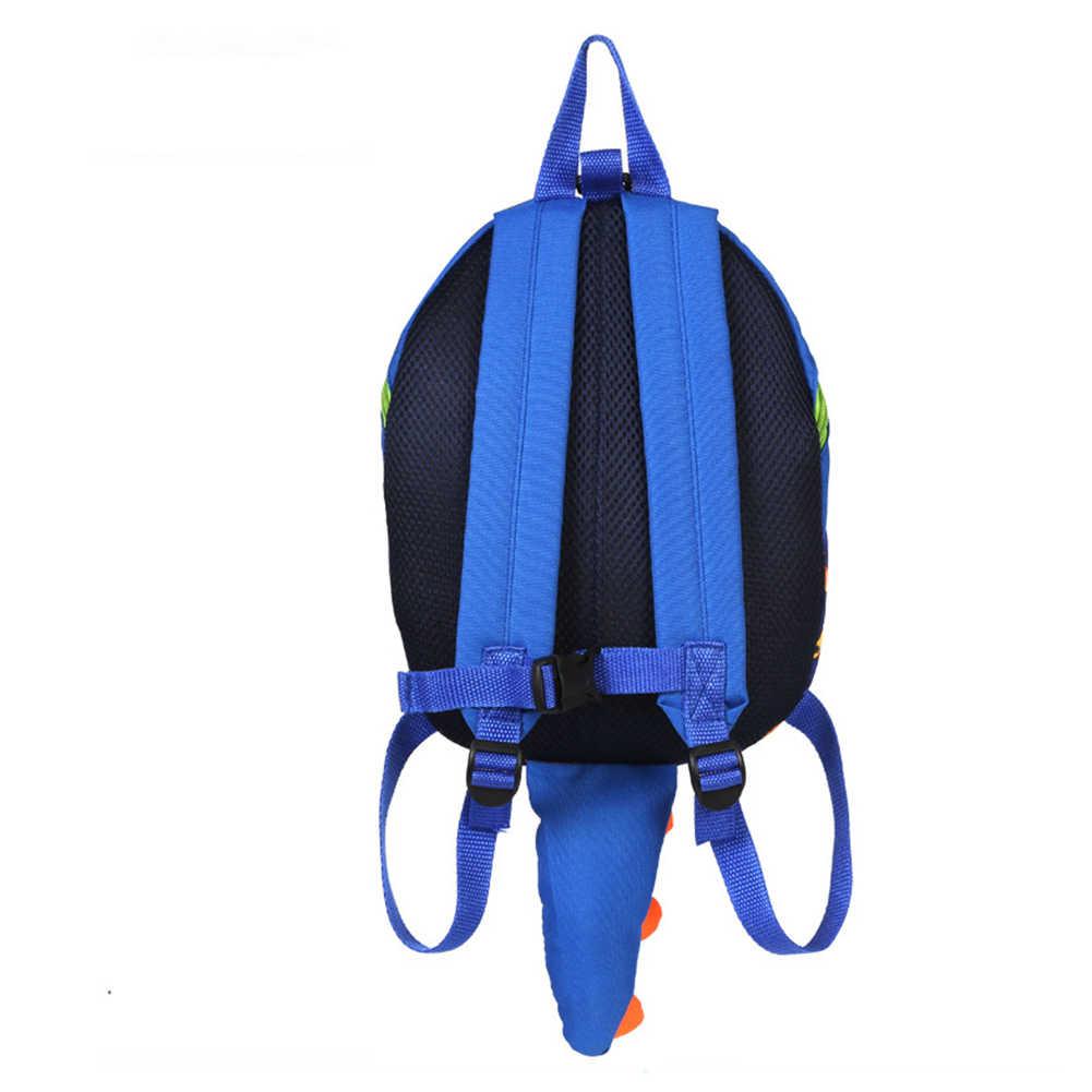 Милая сумка для девочек, динозавр, детский рюкзак в детский сад, школьная сумка с поводком, детская школьная сумка, поводок