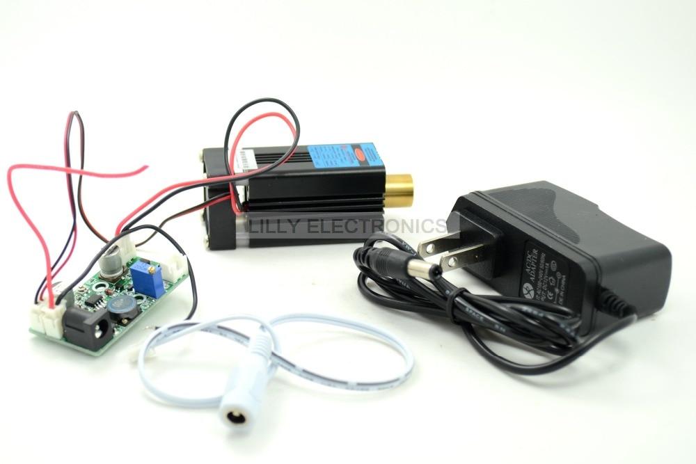 445nm 450nm 500mW Blue Laser Dot Module 12V+ TTL+ Fan Cooling- Working Long time brand original clevo blue sky w150er fan 6 31 w15en 102 module