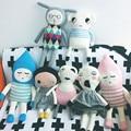New ins bobochoses almofada travesseiro macio de algodão boneca preto e branco Stuffed Toy Luckyboysunday 0-12a