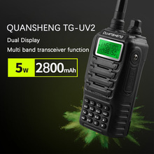 Dual Band 2 Vie двухстороннее радио двойной резервный Doppio дисплей Quansheng TG-UV2 con certificazione fcc del ce портативной рации