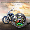 LED Round Digital Backlight Motorcycle Odometer Speedometer Tachometer Gauge for HAOJUE for Suzuki TR150 Cafe Racer