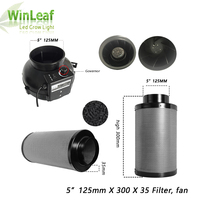 5 Inch Centrifugal Fans&Activated Carbon Air Filter for GreenHouse Grow Tent Hydroponic LED HPS/MH Grow Light