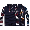 2016 Brand Mens Sweater Tace & Shark Sweater Men Stripe Sleeve Pullovers Knitting Thick Warm Designer Half Zipper Clothing men