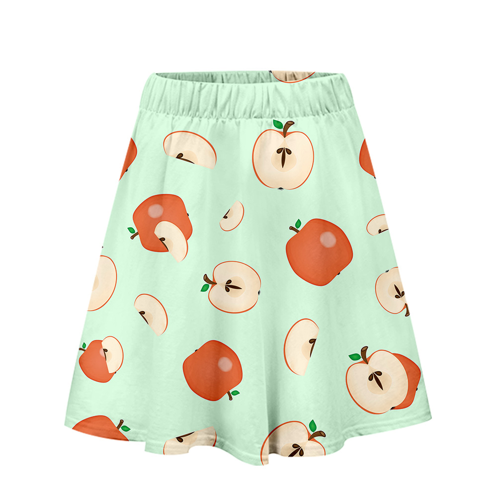 Fruit Style 3D 2019 Skirt  Print Women Summer Sexy Skirt 2019 New Clothes Casual Ladies Hot Sales K-pops  Skirts Plus Size Xxl