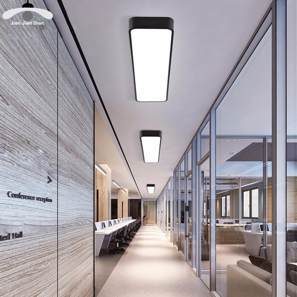 Modern Led Ceiling Light Lamp Lighting Fixture Surface Mount Rectangle Panel Remote Control Office Bedroom Living Room 110v 220v Ceiling Lights