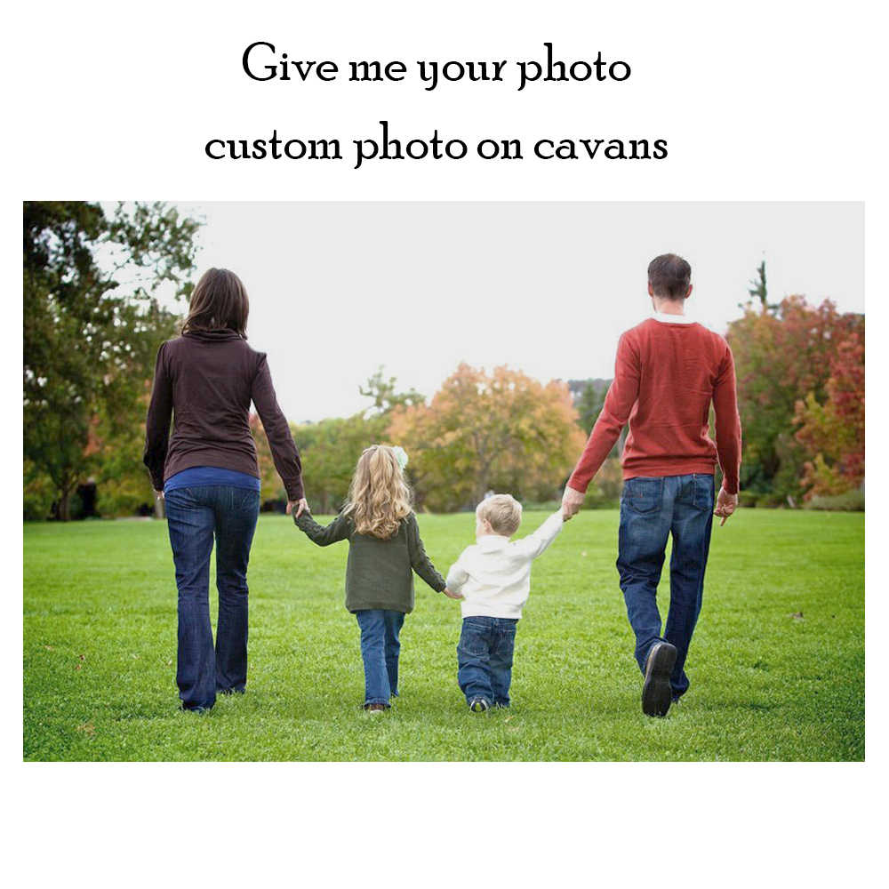 Custom prints Your Photo,Family Picture,Poster ,Favorite Image Unframed Custom Print on Canvas Home Decor Unique Gift