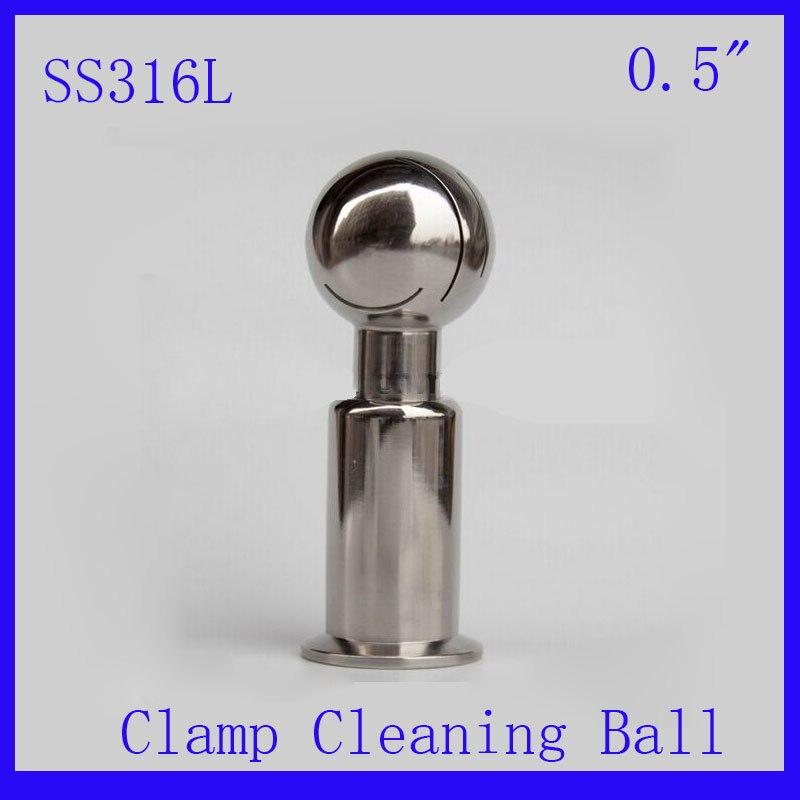 Горячая 0,5 SS316L Нержавеющая сталь роторный спрей Чистка шариковый зажим шарик для очистки резервуара моющий шар CIP чистящая головка