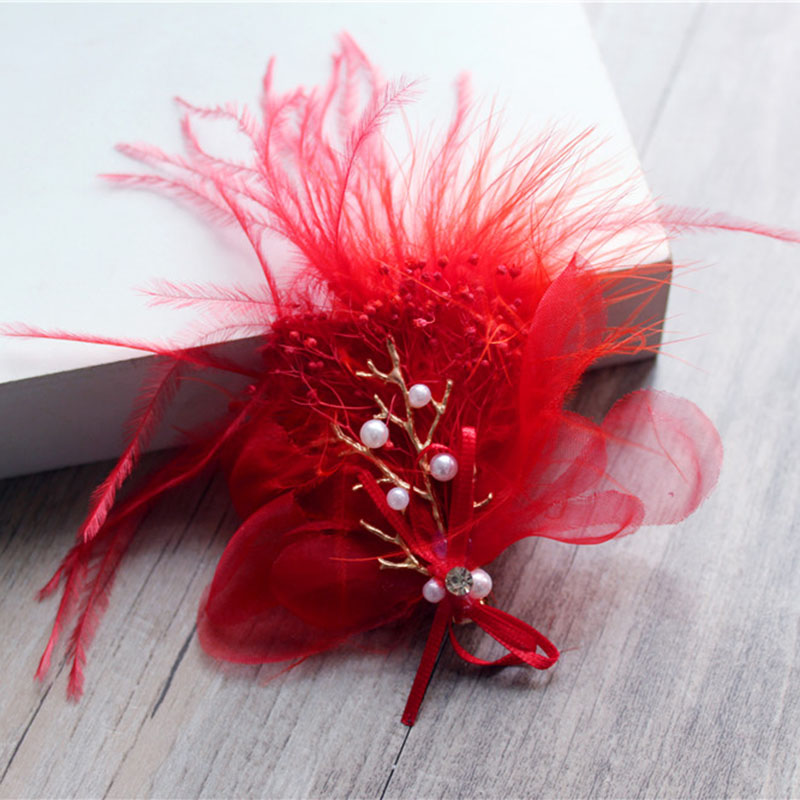 This year new trends popular Christmas and Wedding Decoration Hair Accessories beautiful Feather hairpins.