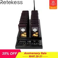 Retekess T112 999 канала 20 вызова Coaster пейджер Беспроводной очереди сирена системы вызова пейджер с кнопками оборудование для ресторана