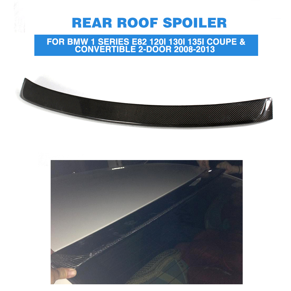 Carbon Fiber/FRP Unpainted A Style Rear Roof Spoiler Wing Lip For BMW 1 Series E82 120i Coupe & Convertible 2-Door 08-13 unpainted frp rear roof spoiler lip wing for audi q7 2006 2008 abt style