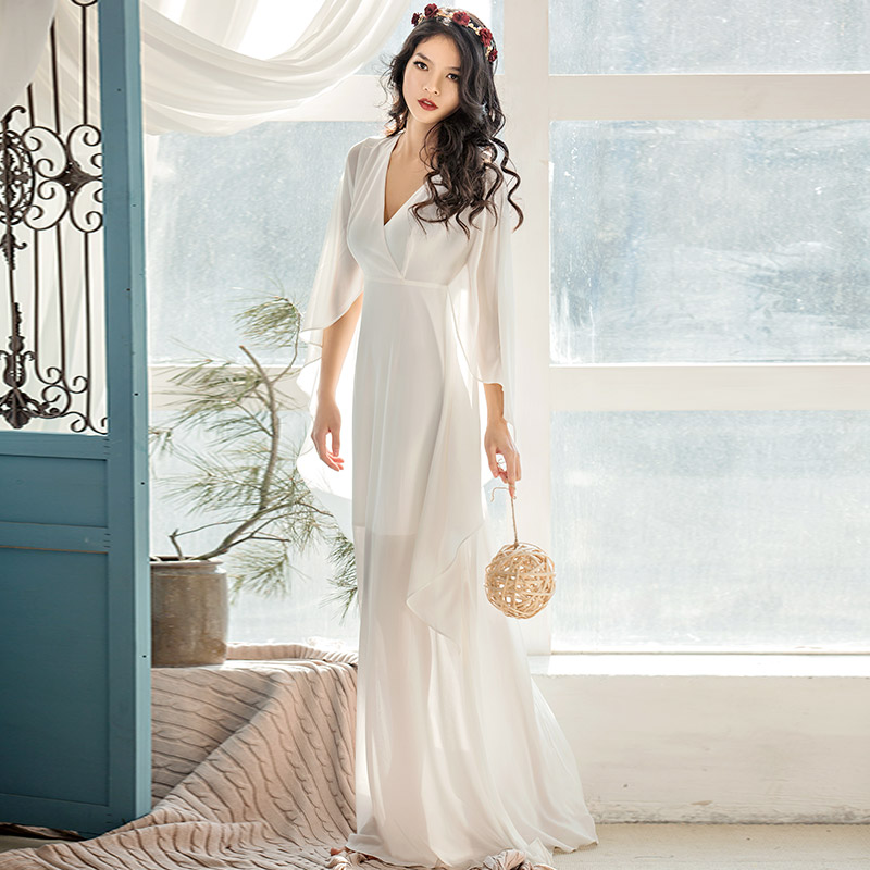 Verragee Винтаж Для женщин шифоновое платье Свободный рукав летучая мышь лето-осень принцесса элегантное платье Макси