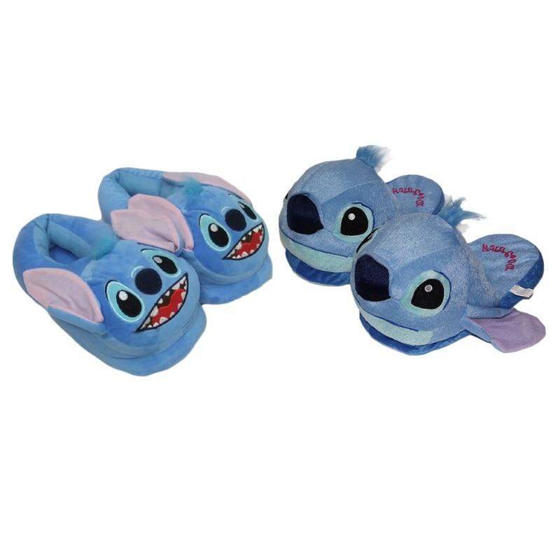 Cartoon Stitch 626 Cute Plush Slipper Cotton Warm Winter Home Slipper Birthday Christmas Children Gift