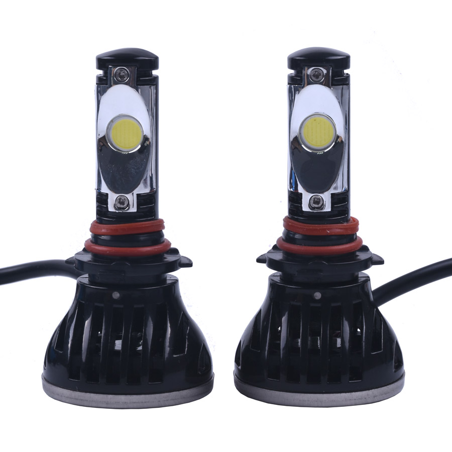 2pcs/lot Led Bulb For Cars Headlight Fog DRL Lamp 9005/H10 PSX24 Cob Leds Replacement For Car Headlamp 2200LM