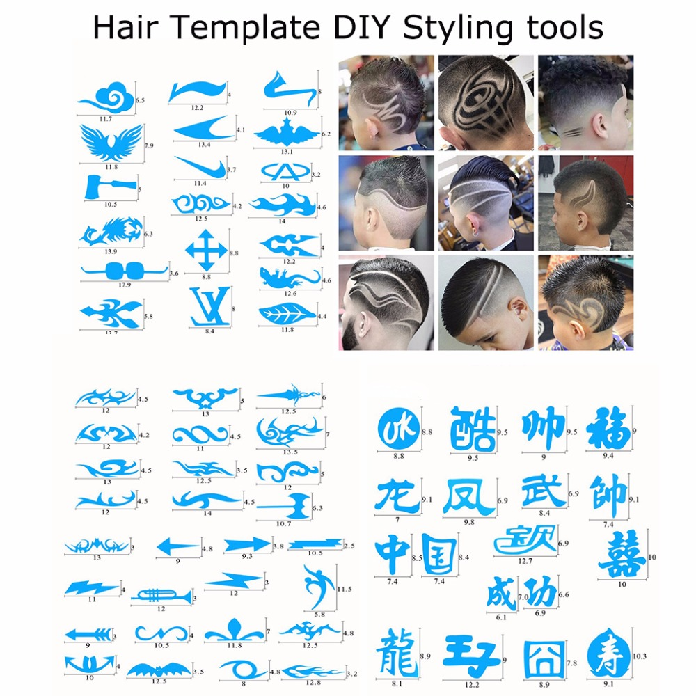 Children & Adult Haircut Model Hair Template DIY Styling tools for ...