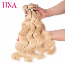 hot deal buy brazilian body wave human hair bundles 100% human hair weaves #613 una non-remy hair bundles 1/3/4 bundles pack 12-18 inches