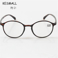 KESMALL 2017 Reading Glasses Women Men Retro TR90 Presbyopic Glasses Frame Transparent Lens Eyeglasses Lentes De
