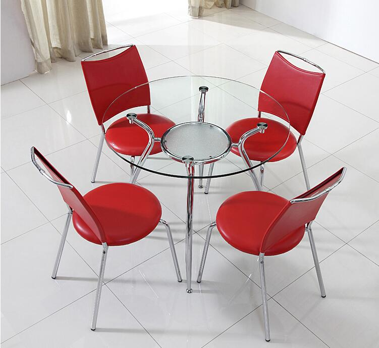 Купить с кэшбэком Toughened glass talks about table and chair. Training round table for visitors