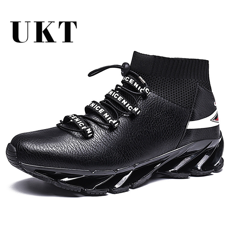 Hot Brand Winter Light Running Shoes for Men 2017 Cushioning Mens Black Sneakers Pu Leather Breathable Sports Shoes for Male
