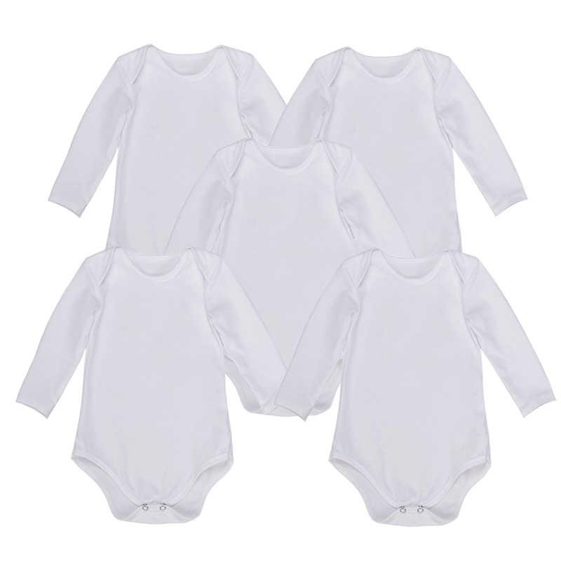 Боди для новорожденных с длинными рукавами для малышей, 5 шт. в упаковке, черная одежда унисекс для маленьких мальчиков и девочек 0-24 месяцев
